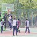 打篮球和教小学生打篮球