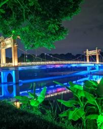 手机拍客  彩绘绶溪桥